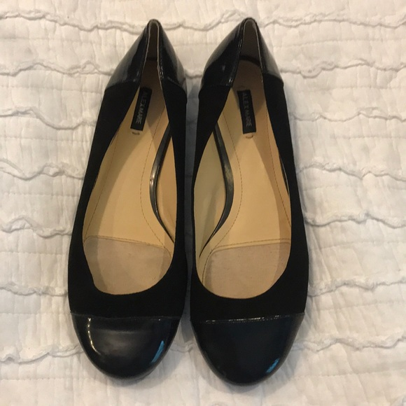 b5bdddb195e Alex Marie black leather and suede ballet flats